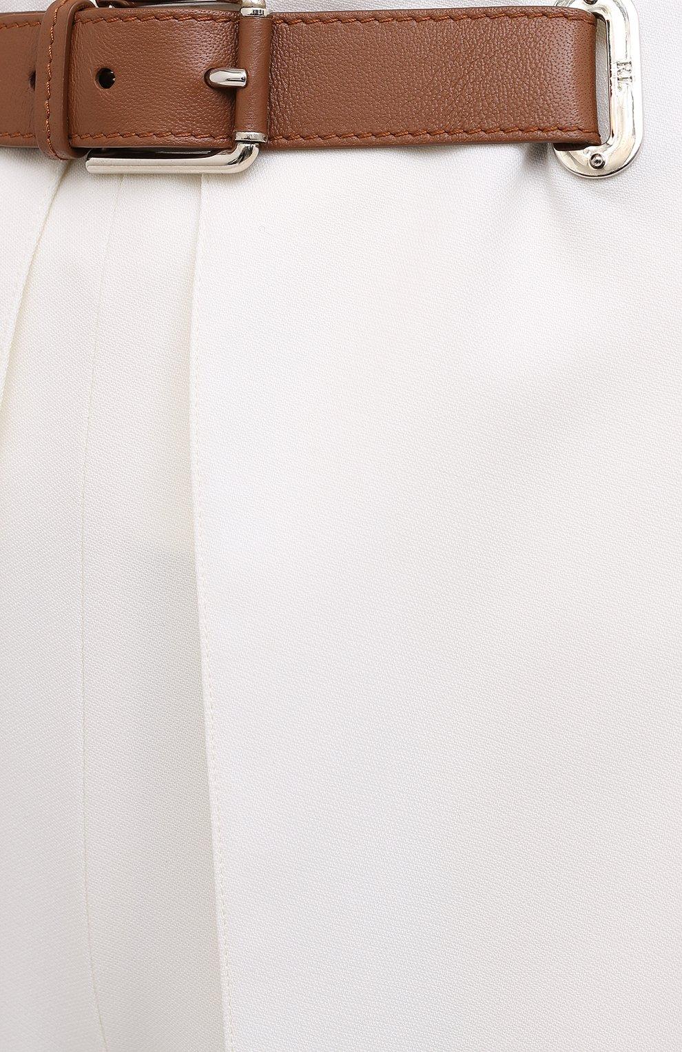 Женские шерстяные брюки RALPH LAUREN белого цвета, арт. 290815842 | Фото 6