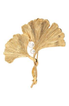 брошь OSCAR DE LA RENTA золотого цвета, арт. P20J305G0L | Фото 1