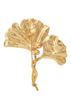 брошь OSCAR DE LA RENTA золотого цвета, арт. P20J305G0L | Фото 2