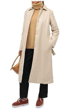 Женские замшевые лоферы LE SILLA коричневого цвета, арт. 6182R020M1MMP0W | Фото 2
