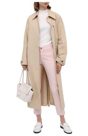 Женские хлопковые брюки AG розового цвета, арт. ART1613/RF0G | Фото 2
