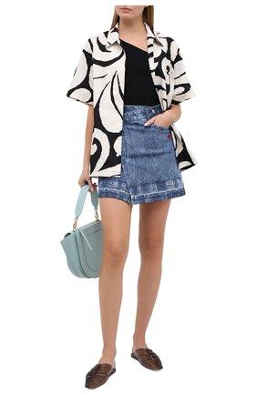 Женская джинсовая юбка STELLA MCCARTNEY синего цвета, арт. 601793/S0H04 | Фото 2