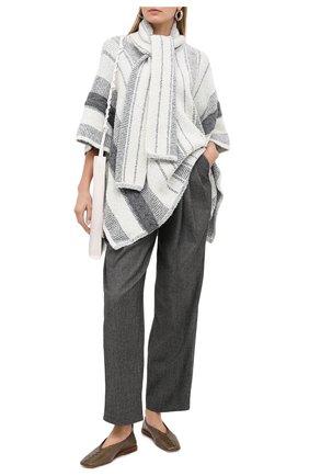 Женские брюки из шерсти и шелка VIKA GAZINSKAYA черного цвета, арт. FW20-1733 | Фото 2