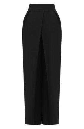 Женские брюки из шерсти и шелка VIKA GAZINSKAYA черного цвета, арт. FW20-1735 | Фото 1