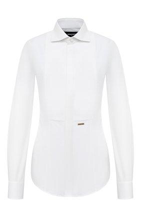 Женская хлопковая рубашка DSQUARED2 белого цвета, арт. S75DL0725/S42381 | Фото 1