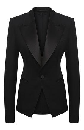 Женский шерстяной жакет TOM FORD черного цвета, арт. GI2755-FAX733 | Фото 1