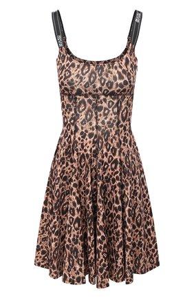 Женское платье VERSACE JEANS COUTURE леопардового цвета, арт. D2HZA412-ZDP909/S0803 | Фото 1