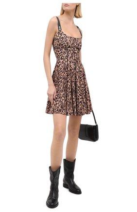 Женское платье VERSACE JEANS COUTURE леопардового цвета, арт. D2HZA412-ZDP909/S0803 | Фото 2