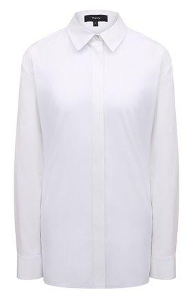 Женская хлопковая рубашка THEORY белого цвета, арт. K0104509 | Фото 1