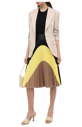 Женские кожаные мюли NEOUS кремвого цвета, арт. 00233NP15   Фото 2