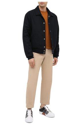 Мужские кожаные кеды tiziano ZEGNA COUTURE серого цвета, арт. A2975X-LHSWI | Фото 2