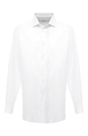 Мужская хлопковая сорочка BRIONI белого цвета, арт. RCL400/PZ062 | Фото 1 (Длина (для топов): Стандартные; Материал внешний: Хлопок; Рукава: Длинные; Случай: Формальный; Стили: Классический)