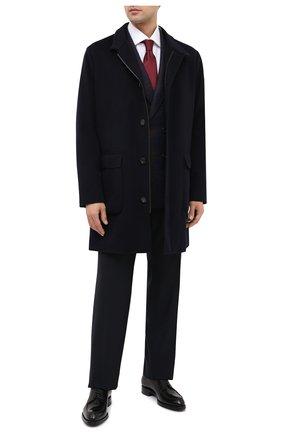 Мужская хлопковая сорочка BRIONI белого цвета, арт. RCL400/PZ062 | Фото 2 (Длина (для топов): Стандартные; Материал внешний: Хлопок; Рукава: Длинные; Случай: Формальный; Стили: Классический)