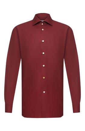 Мужская хлопковая сорочка KITON бордового цвета, арт. UCIH0740904   Фото 1