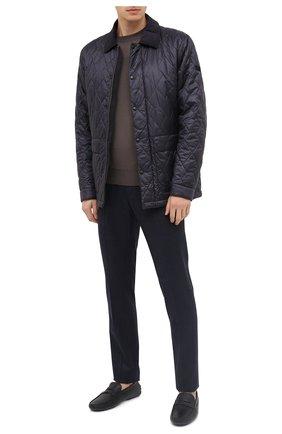 Мужские кожаные мокасины TOD'S черного цвета, арт. XXM64C00640VYP | Фото 2
