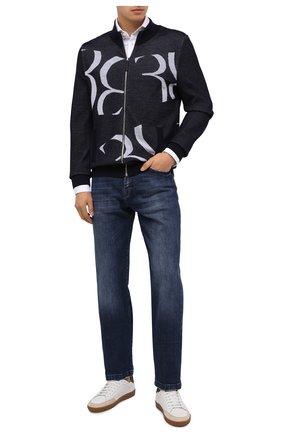 Мужская шерстяной кардиган BILLIONAIRE темно-синего цвета, арт. W20C MKO0892 BKN004N | Фото 2