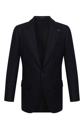 Мужской шерстяной пиджак TOM FORD темно-синего цвета, арт. 856R00/1IMU40 | Фото 1