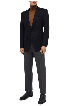 Мужской шерстяной пиджак TOM FORD темно-синего цвета, арт. 856R00/1IMU40 | Фото 2