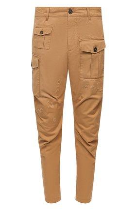 Мужской хлопковые брюки DSQUARED2 бежевого цвета, арт. S74KB0464/S41794 | Фото 1