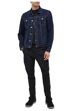 Мужская джинсовая куртка DSQUARED2 синего цвета, арт. S74AM1110/S30309 | Фото 2