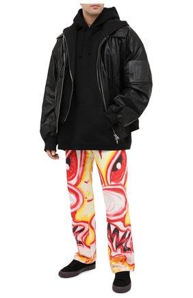 Мужские замшевые кеды HERON PRESTON черного цвета, арт. HMIA017F20LEA0011022 | Фото 2