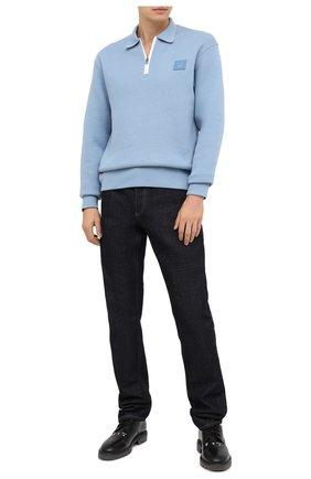 Мужской кожаные дерби OFF-WHITE черного цвета, арт. 0MIA199F20LEA0011000 | Фото 2