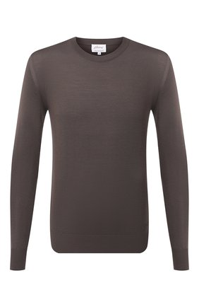 Мужской шерстяной джемпер BRIONI коричневого цвета, арт. UMQ90L/0ZK28 | Фото 1