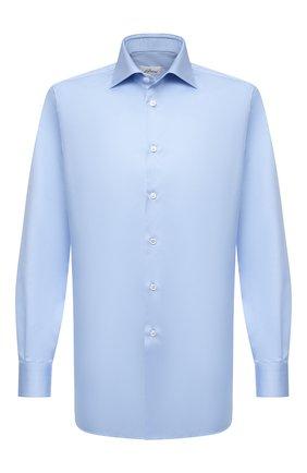 Мужская хлопковая сорочка BRIONI голубого цвета, арт. RCA20M/P90C4 | Фото 1