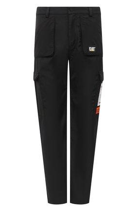 Мужские брюки-карго heron preston x caterpillar HERON PRESTON черного цвета, арт. HMCA032F20FAB0011000 | Фото 1 (Длина (брюки, джинсы): Стандартные; Материал внешний: Синтетический материал; Случай: Повседневный; Стили: Спорт-шик; Силуэт М (брюки): Карго)