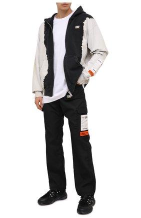 Мужские брюки-карго heron preston x caterpillar HERON PRESTON черного цвета, арт. HMCA032F20FAB0011000 | Фото 2 (Длина (брюки, джинсы): Стандартные; Материал внешний: Синтетический материал; Случай: Повседневный; Стили: Спорт-шик; Силуэт М (брюки): Карго)