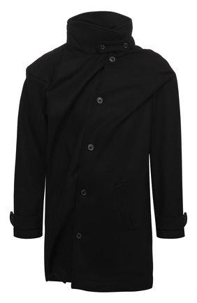 Мужской пальто Y/PROJECT черного цвета, арт. JACK70-S19 F234 | Фото 1
