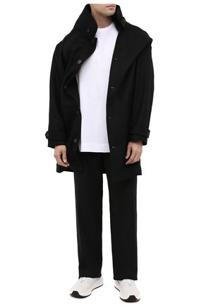Мужской пальто Y/PROJECT черного цвета, арт. JACK70-S19 F234 | Фото 2