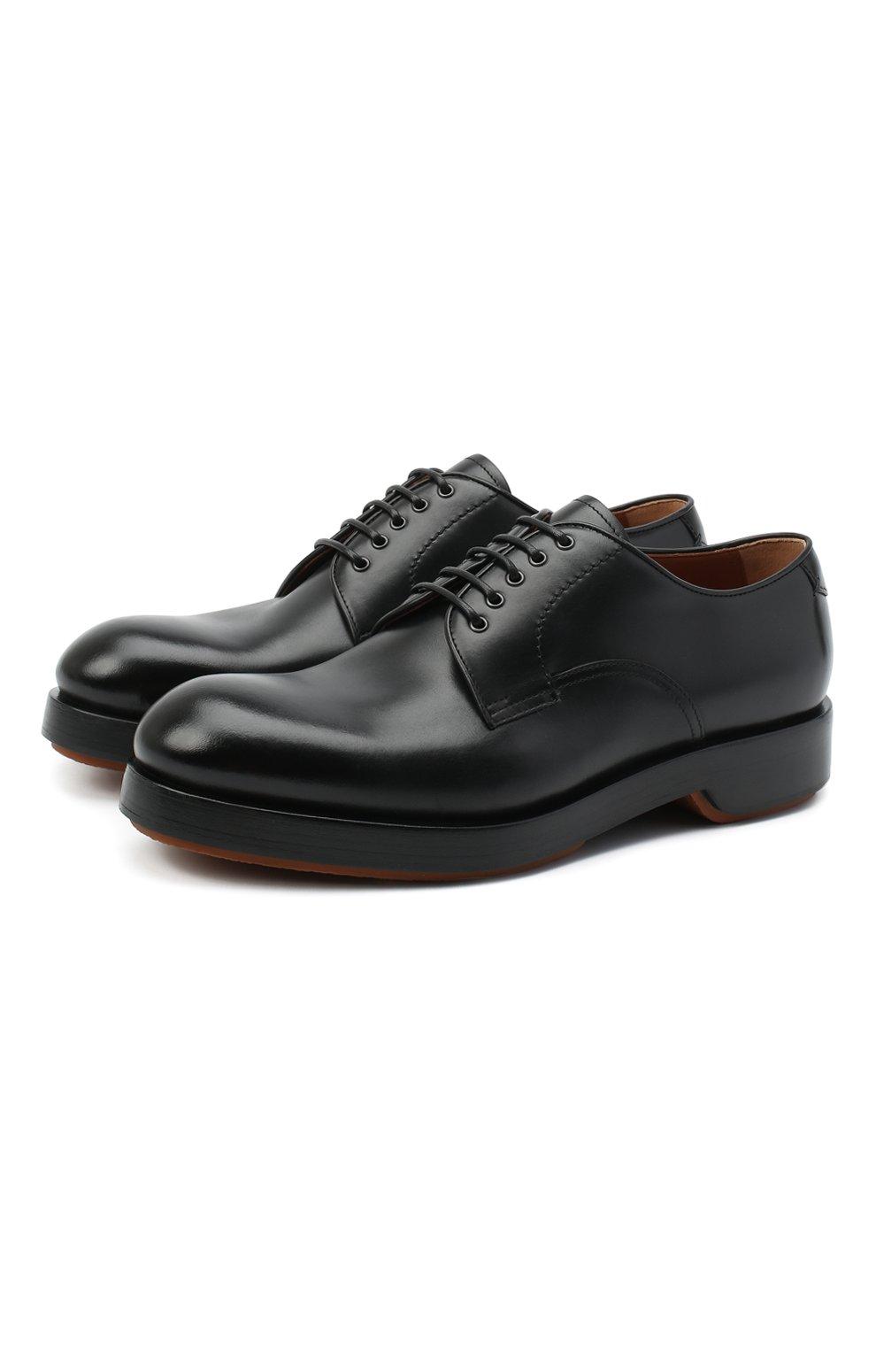 Мужские кожаные дерби ZEGNA COUTURE черного цвета, арт. A4562X-LHHRS   Фото 1 (Материал внутренний: Натуральная кожа; Стили: Классический)