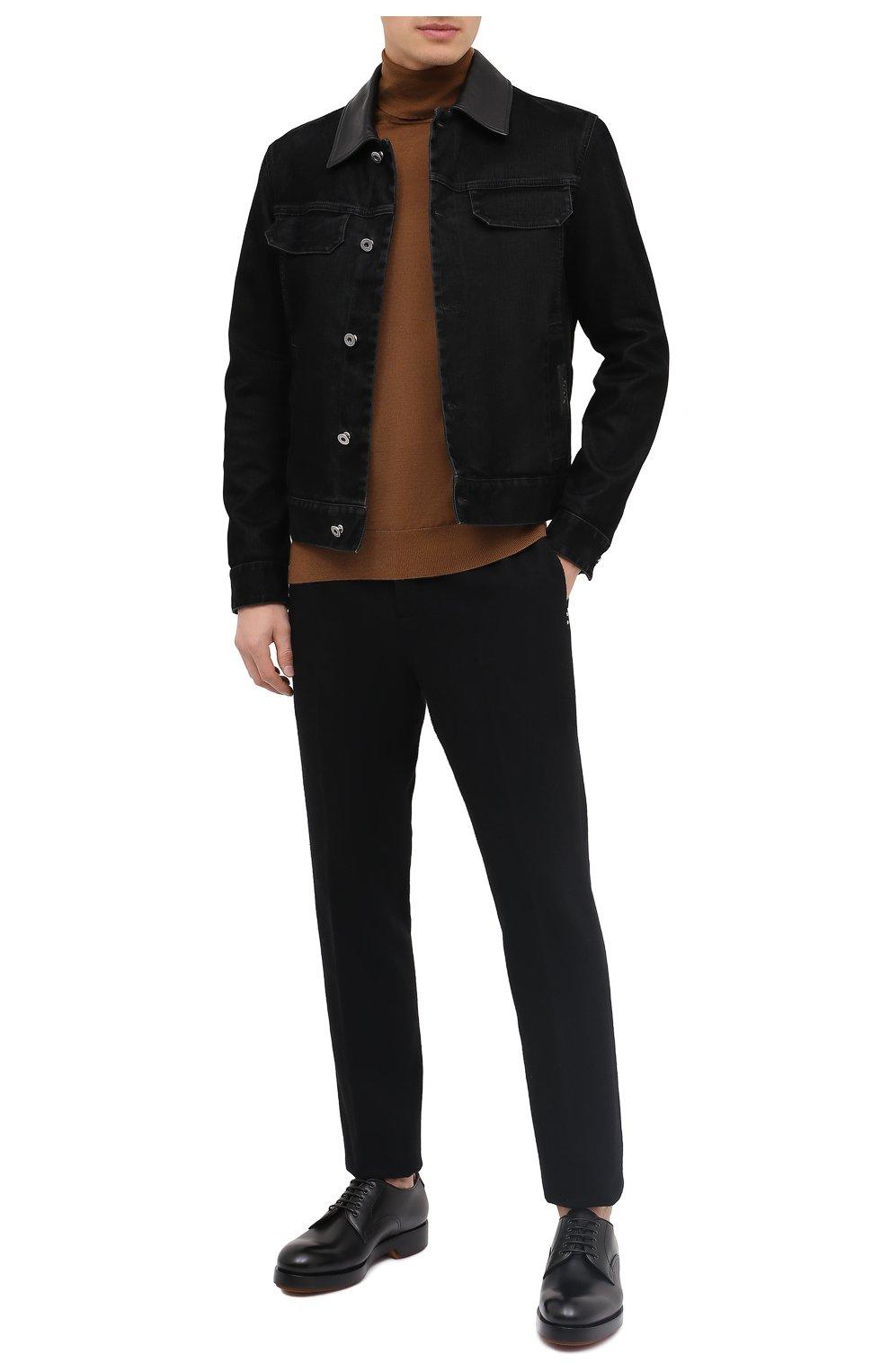 Мужские кожаные дерби ZEGNA COUTURE черного цвета, арт. A4562X-LHHRS   Фото 2 (Материал внутренний: Натуральная кожа; Стили: Классический)