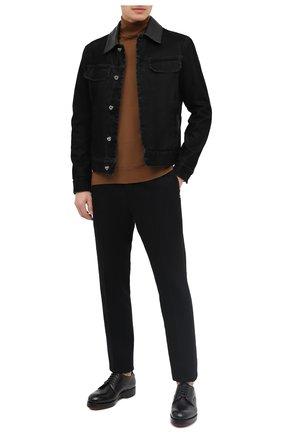 Мужской кожаные дерби ZEGNA COUTURE черного цвета, арт. A4562X-LHHRS | Фото 2