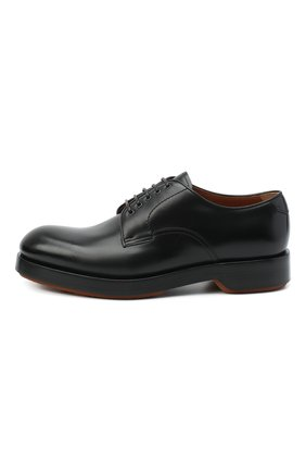 Мужские кожаные дерби ZEGNA COUTURE черного цвета, арт. A4562X-LHHRS   Фото 3 (Материал внутренний: Натуральная кожа; Стили: Классический)