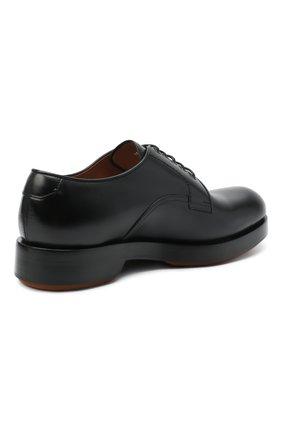 Мужские кожаные дерби ZEGNA COUTURE черного цвета, арт. A4562X-LHHRS   Фото 4 (Материал внутренний: Натуральная кожа; Стили: Классический)