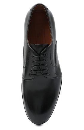 Мужские кожаные дерби ZEGNA COUTURE черного цвета, арт. A4562X-LHHRS   Фото 5 (Материал внутренний: Натуральная кожа; Стили: Классический)