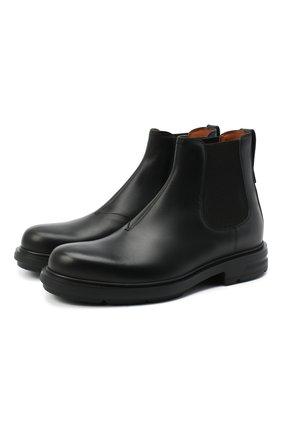 Мужские кожаные челси ERMENEGILDO ZEGNA черного цвета, арт. A4554X-LHC0I | Фото 1