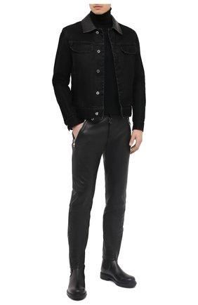 Мужские кожаные челси ERMENEGILDO ZEGNA черного цвета, арт. A4554X-LHC0I | Фото 2