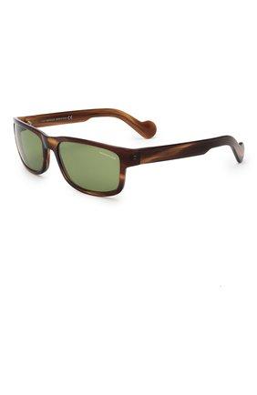 Мужские солнцезащитные очки MONCLER коричневого цвета, арт. ML 0114 50N 58 С/З ОЧКИ | Фото 1