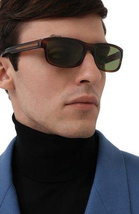 Мужские солнцезащитные очки MONCLER коричневого цвета, арт. ML 0114 50N 58 С/З ОЧКИ | Фото 2