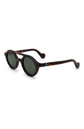 Мужские солнцезащитные очки MONCLER коричневого цвета, арт. ML 0014 52N 47 С/З ОЧКИ | Фото 1