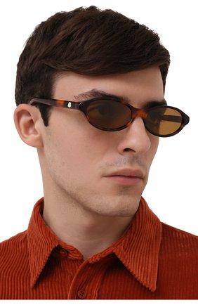 Мужские солнцезащитные очки MONCLER коричневого цвета, арт. ML 0117 52J 58 С/З ОЧКИ | Фото 2