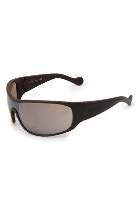 Мужские солнцезащитные очки MONCLER коричневого цвета, арт. ML 0129 50L 00 С/З ОЧКИ | Фото 1
