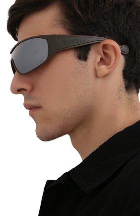Мужские солнцезащитные очки MONCLER коричневого цвета, арт. ML 0129 50L 00 С/З ОЧКИ | Фото 2