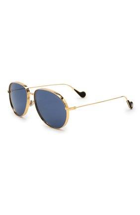 Мужские солнцезащитные очки MONCLER золотого цвета, арт. ML 0120 30V 58 С/З ОЧКИ   Фото 1