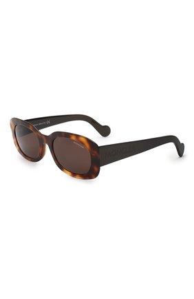 Мужские солнцезащитные очки MONCLER коричневого цвета, арт. ML 0123 52E 52 С/З ОЧКИ | Фото 1