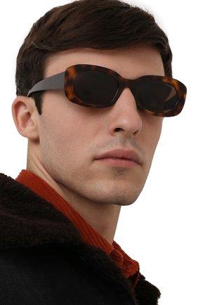 Мужские солнцезащитные очки MONCLER коричневого цвета, арт. ML 0123 52E 52 С/З ОЧКИ | Фото 2