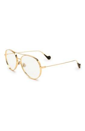 Мужские солнцезащитные очки MONCLER золотого цвета, арт. ML 0121 030 57 С/З ОЧКИ   Фото 1